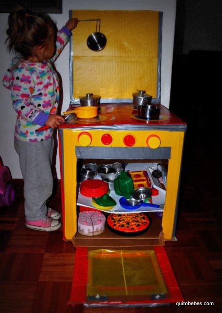 cocina de carton